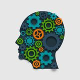Gear Head Concept Royalty Free Stock Photography