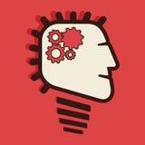 Gear in human head. Stock Stock Image