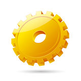 Gear icon. Illustration of gear icon on white background Royalty Free Stock Photography