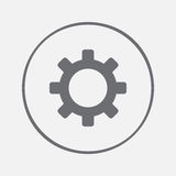 Gear icon. flat gear sign vector, solid illustration, pictogram isolated on gray. Stock Image