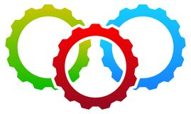 Gear icon, gear symbol for maintenance, repair or development co Stock Images