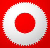 Gear icon, gear symbol for maintenance, repair or development co Royalty Free Stock Image