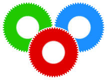 Gear icon, gear symbol for maintenance, repair or development co Stock Photo