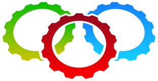 Gear icon, gear symbol for maintenance, repair or development  Royalty Free Stock Image