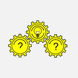Gear icon, Gearing, perdachi traffic signal. Idea selection, editable vector image Royalty Free Stock Photo