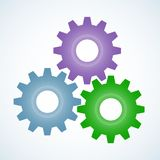 Gear icon with place for your text. Vector illustration stock illustration