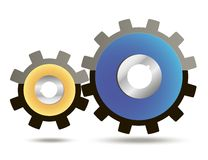 Gear icon with place for your text. Vector. Gear icon with place for your text Royalty Free Stock Images