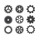 Gear icon set. Vector transmission cog wheels and gears isolated on white background vector illustration