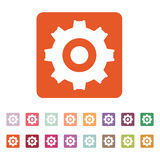 The gear icon. Settings symbol. Flat Royalty Free Stock Photo