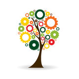 Gear Icon Tree Sign Vector Illustration Royalty Free Stock Images