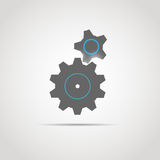 Gear icon with two gears Stock Image