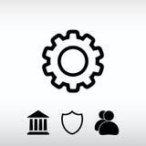 Gear icon, vector illustration. Flat design style stock photo