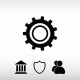 Gear icon, vector illustration. Flat design style royalty free stock photography