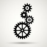 Gear icon. Vector illustration Royalty Free Stock Photos