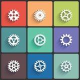 Gear Icon Vector Set Stock Photos