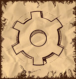 Gear icon  on vintage background Royalty Free Stock Photos