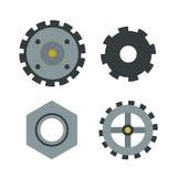 Gear icons isolated vector illustration mechanics web development shape work cog sign. vector illustration