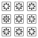Gear icons. Stock Photo