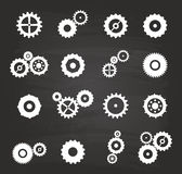Gear Icons Set Stock Photography