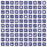 100 gear icons set grunge sapphire. 100 gear icons set in grunge style sapphire color isolated on white background vector illustration Vector Illustration
