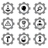 Gear icons Stock Photography