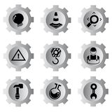 Gear icons Royalty Free Stock Image