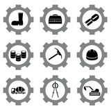 Gear icons Royalty Free Stock Photo