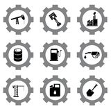Gear icons Stock Photos