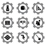 Gear icons Royalty Free Stock Images
