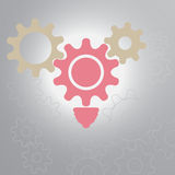 Gear and idea vector Royalty Free Stock Images