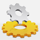Gear. Illustration of abstract gear design Stock Photo