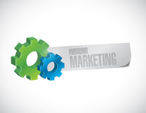 Gear inbound marketing sign illustration Royalty Free Stock Photo