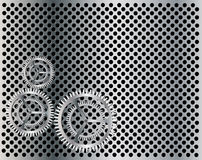 Gear industrial background Stock Images