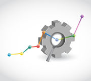 Gear industrial business graph illustration design Stock Photography