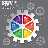 Gear info graphic design, Business concept design. Clean vector Stock Images