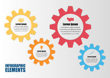 Gear infographic.Business Concept. Stock Photos