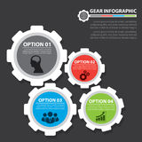 Gear infographic Stock Images