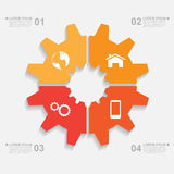 Gear infographic Royalty Free Stock Photography
