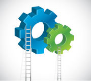 Gear and ladder illustration design Stock Image