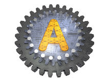 Gear - Letter A Royalty Free Stock Photos