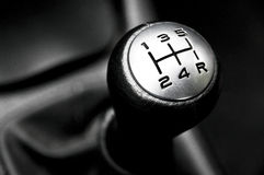 Gear lever. Manual gear lever of a car Stock Photography