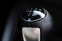 Gear lever. Detail of a shift lever royalty free stock photo
