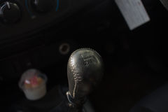 Gear lever, manual gearbox in the car.  royalty free stock images