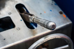 Gear lever. In reel pack Stock Image