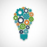 Gear Lightbulb Illustration Royalty Free Stock Photography