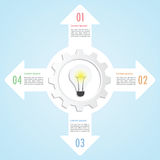 Gear and lightbulb infographic design template. VECTOR, EPS10 Stock Photos