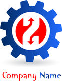 Gear logo Royalty Free Stock Photography