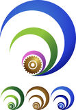 Gear logo. Illustration art of a gear logo with isolated background Royalty Free Stock Images