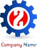 Gear logo royalty free illustration