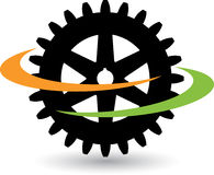 Gear logo. Illustration art of a gear logo with isolated background Stock Images